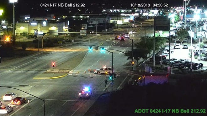 Two people died and three others were injured in a single-vehicle rollover crash early Thursday morning on West Bell Road, near Interstate 17.