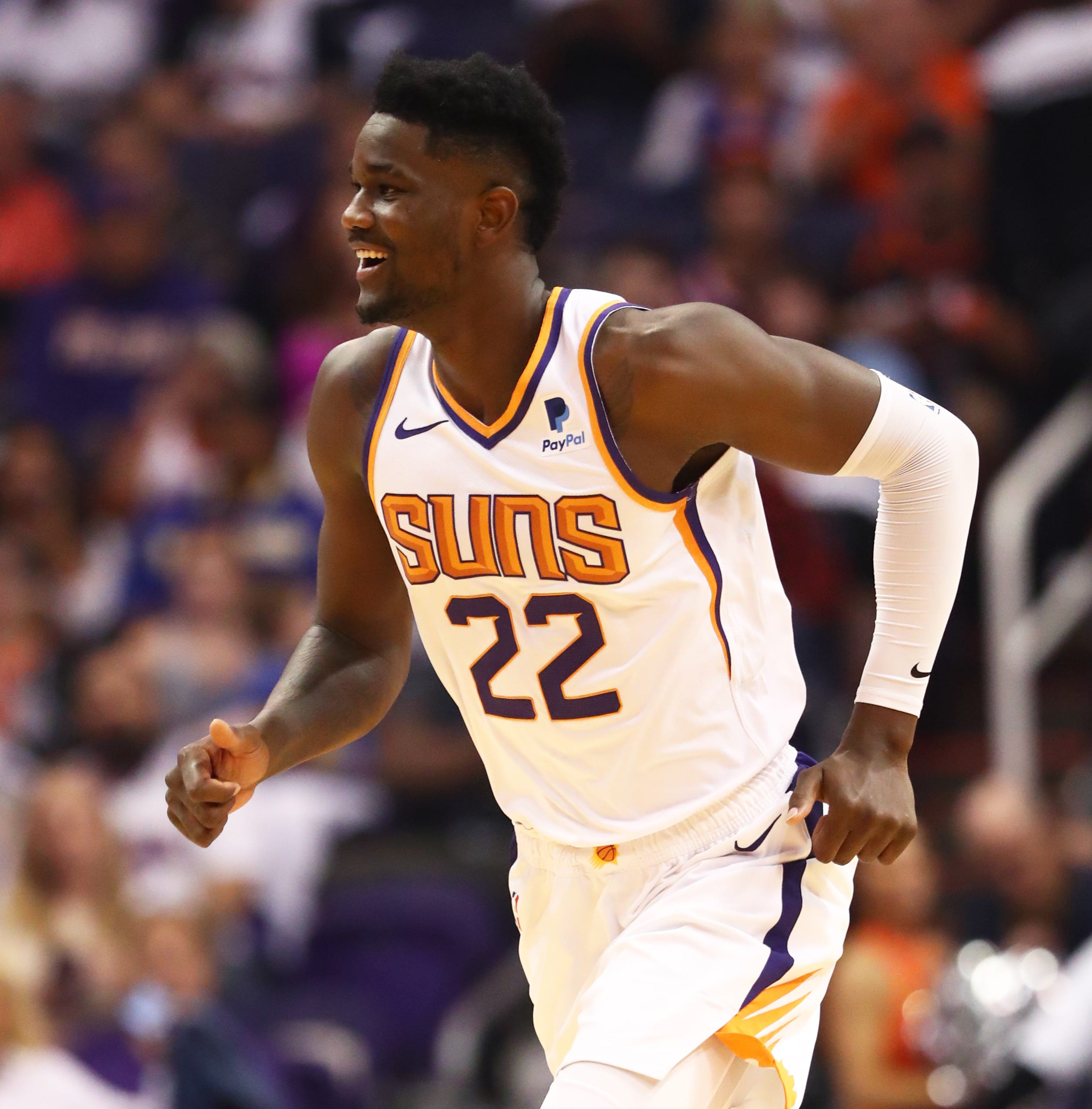 Phoenix Suns rookie Deandre Ayton scores and rebounds, but more importantly he entertains