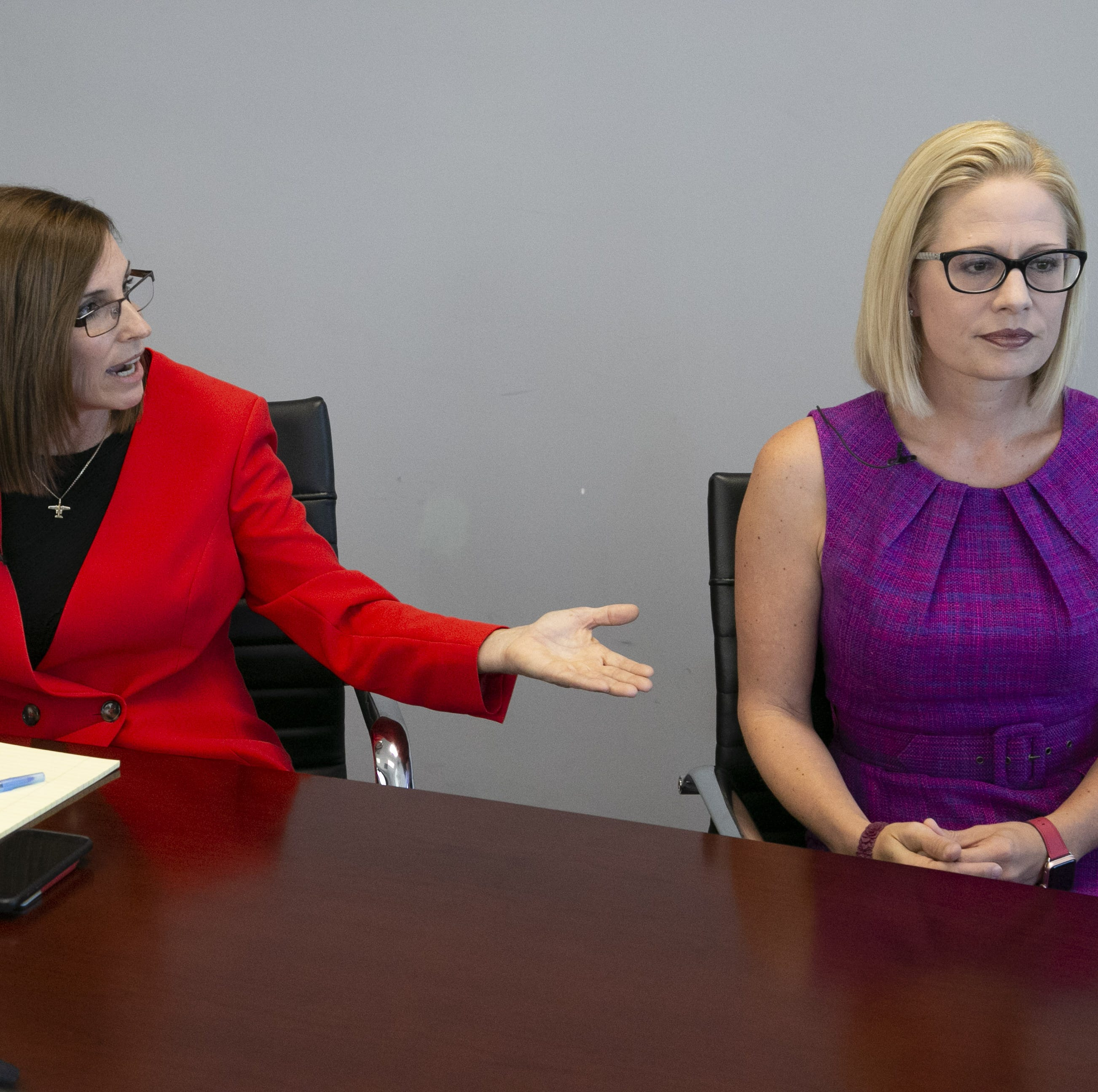 Martha McSally, Kyrsten Sinema battle over 'treason,' campaign tone