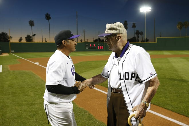 Dave Brazell (right) died Wednesday at age 93.
