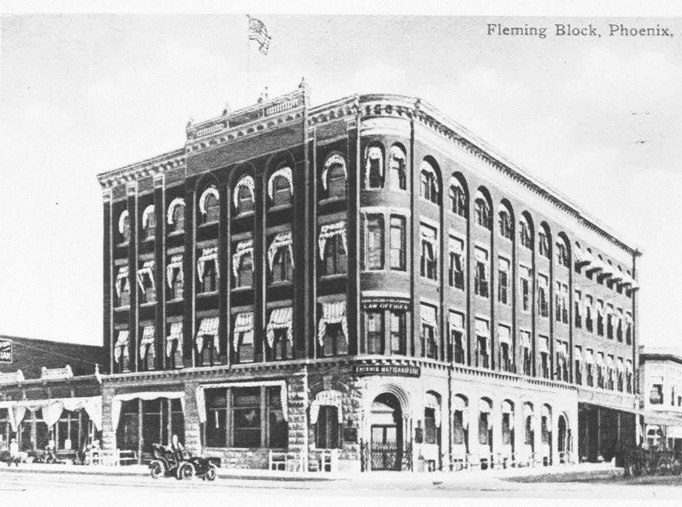 The Fleming Building was completed in 1883. It was torn down nearly 100 years later in the 1980s.