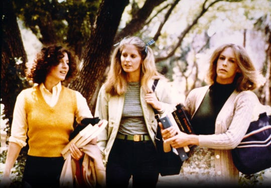 "Nancy Loomis (from left), P.J. Soles and Jamie Lee Curtis star in ""Halloween."""