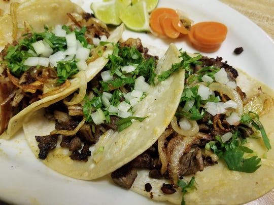 A taco plate from Caminero Mexican Restaurant in Peoria.