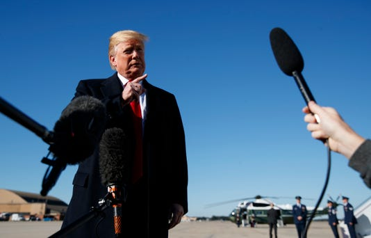 Donald Trump departs