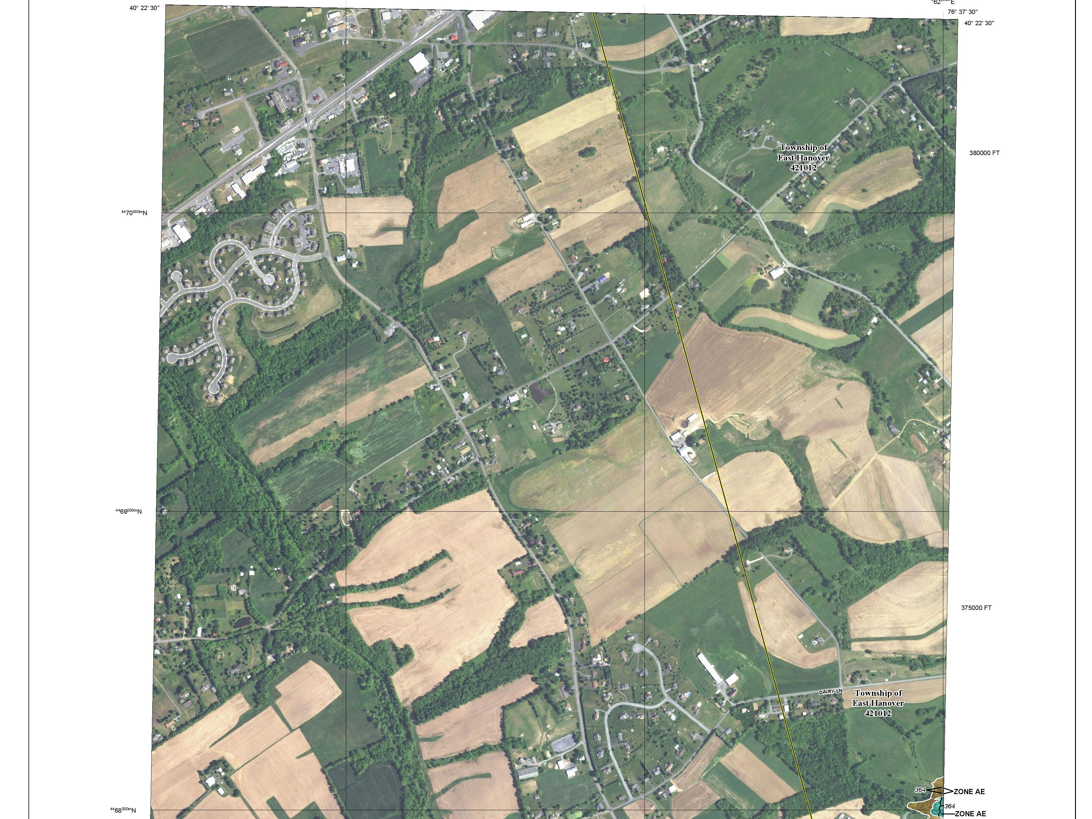 The proposed FEMA flood plain map changes for Lebanon County.