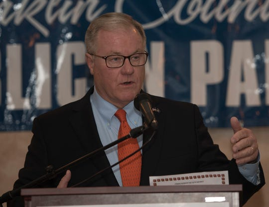 Scott Wagner, candidate for Pennsylvania Governor, was the keynote speaker at the Franklin County Republican Committee's annual Eisenhower Day Dinner on Wednesday, October 17, 2018 at Orchards Restaurant.