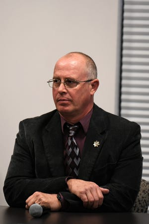 Storey County Sheriff Gerald Antinoro at a Nevada Commission on Ethics hearing in Reno on Wednesday, Oct. 17 2018. The commission fined him $2,500 for his third ethical breach.
