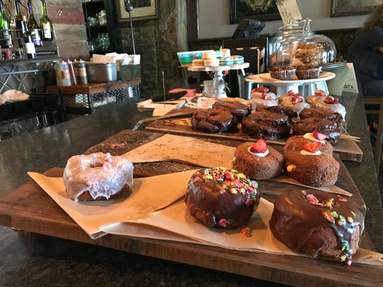 Doughnuts and baked goods on display at H. J. Stead Company in Geneva. Chef Samantha Buyskes plans to open a doughnut pop-up at the Brighton Farmers Market.