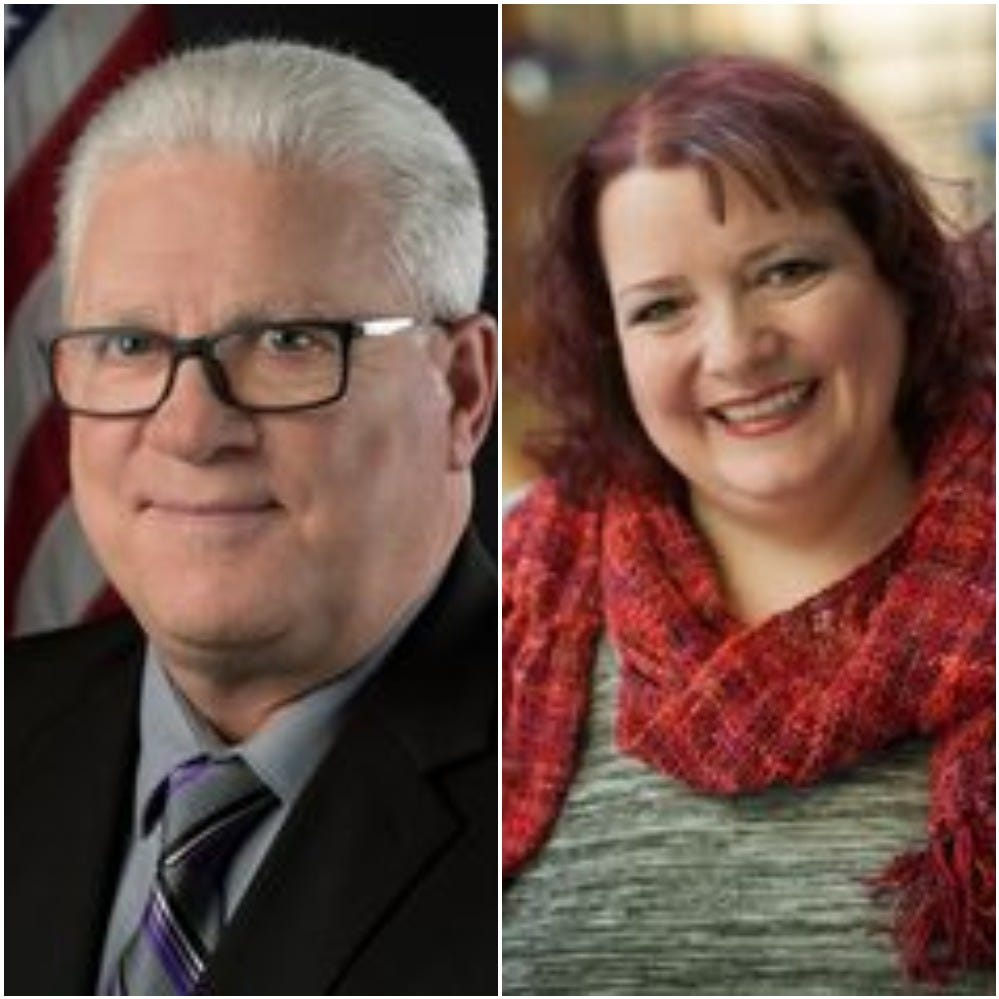 Republican Ed Wilt and Michelle Frechette Ames are running in Monroe County's 1st Legislative District.