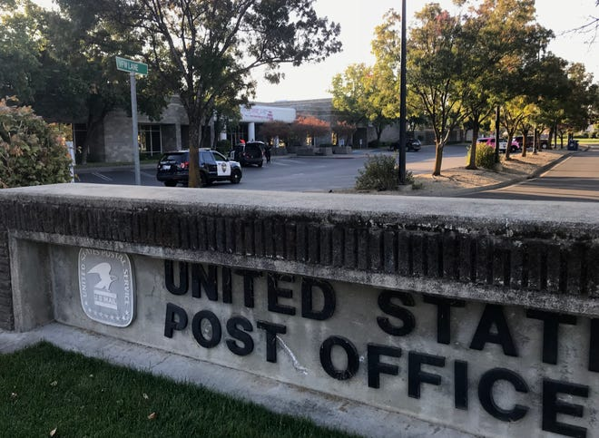 The Churn Creek Road post office was cleared Thursday as police investigated reports that a hand grenade was found outside.