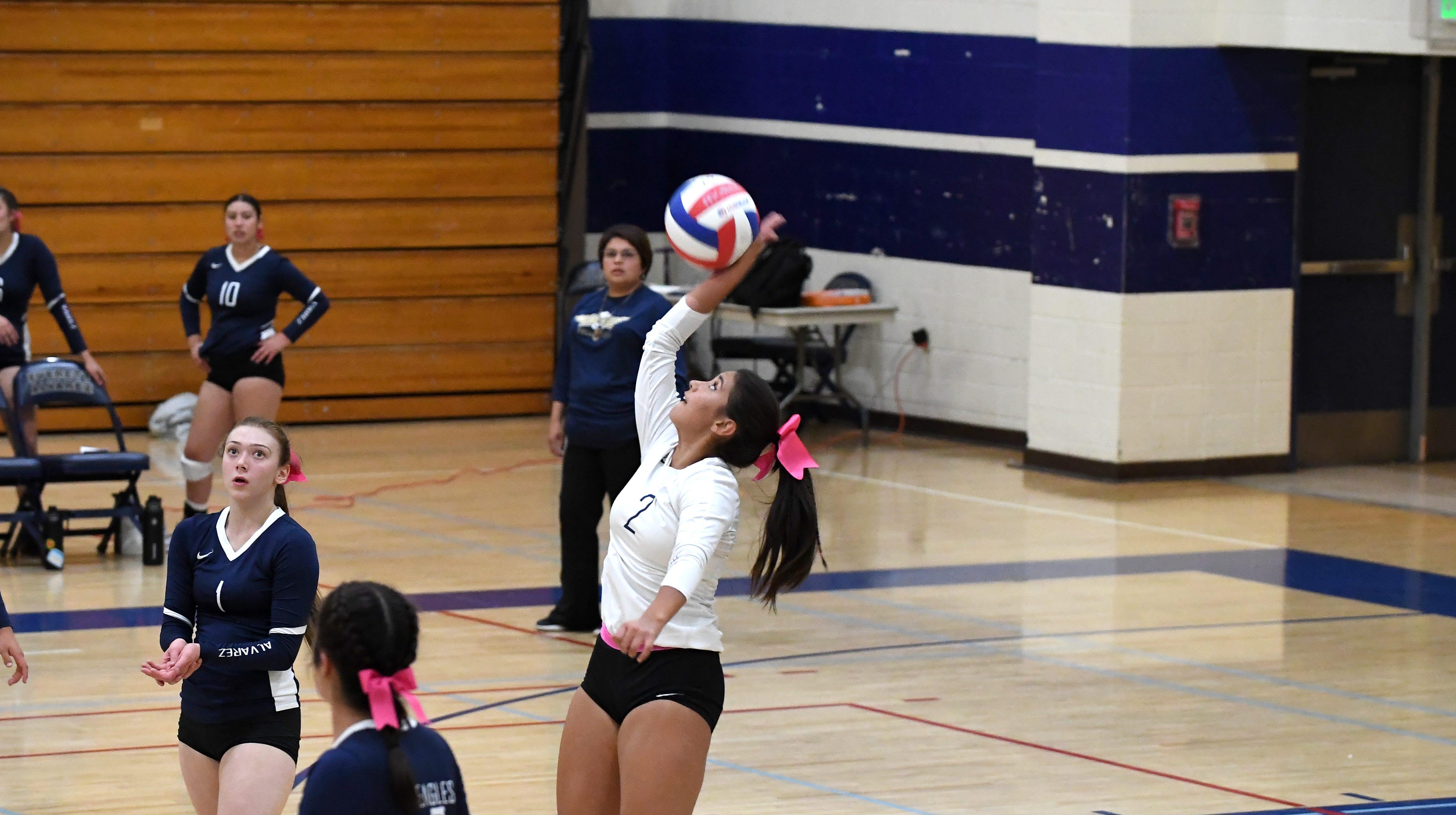 Everett Alvarez's Ashley Noble sets school single-match digs record