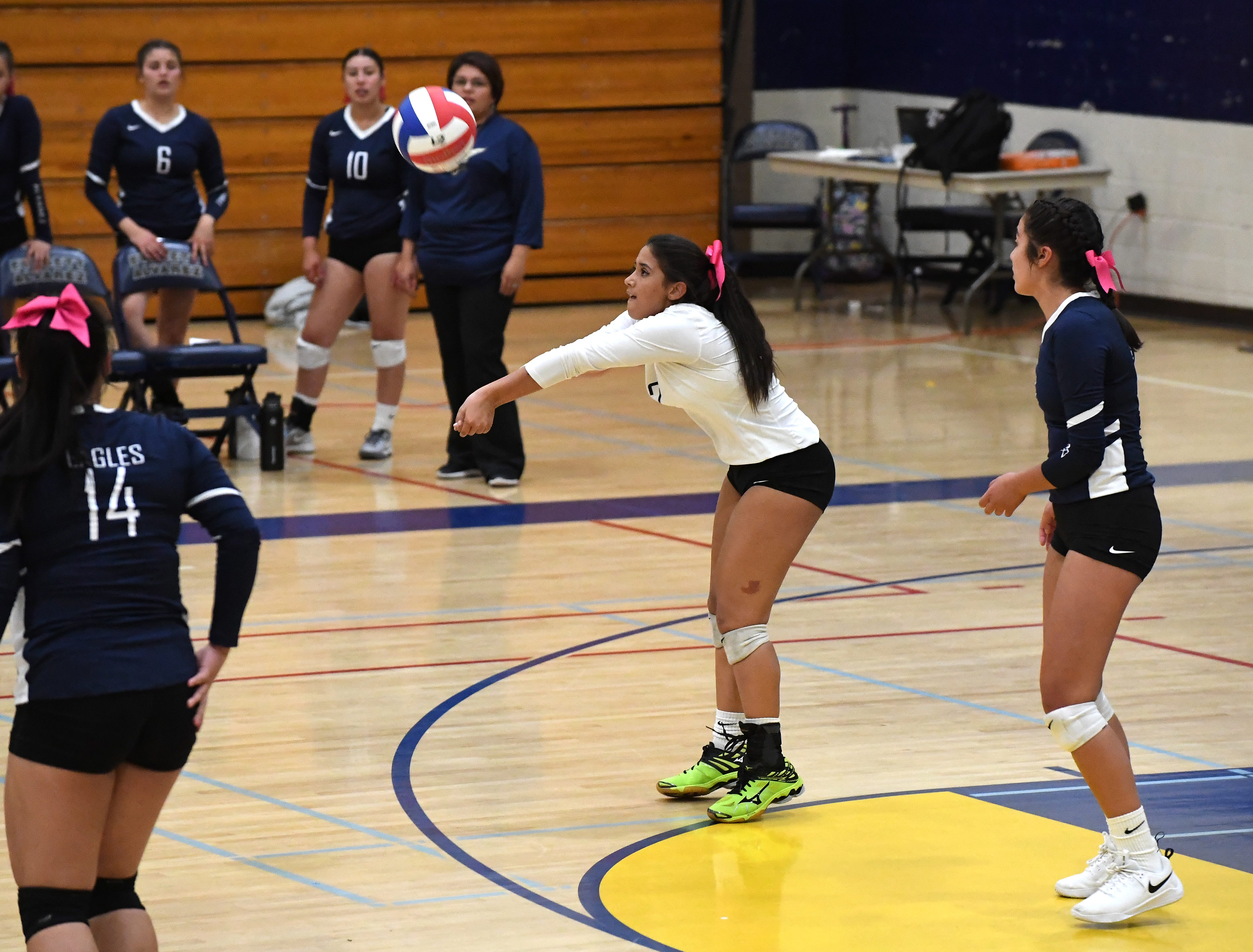 Alvarez's Ashley Noble set a school record for digs in a game this fall as the Eagles were PCAL-Mission champions.