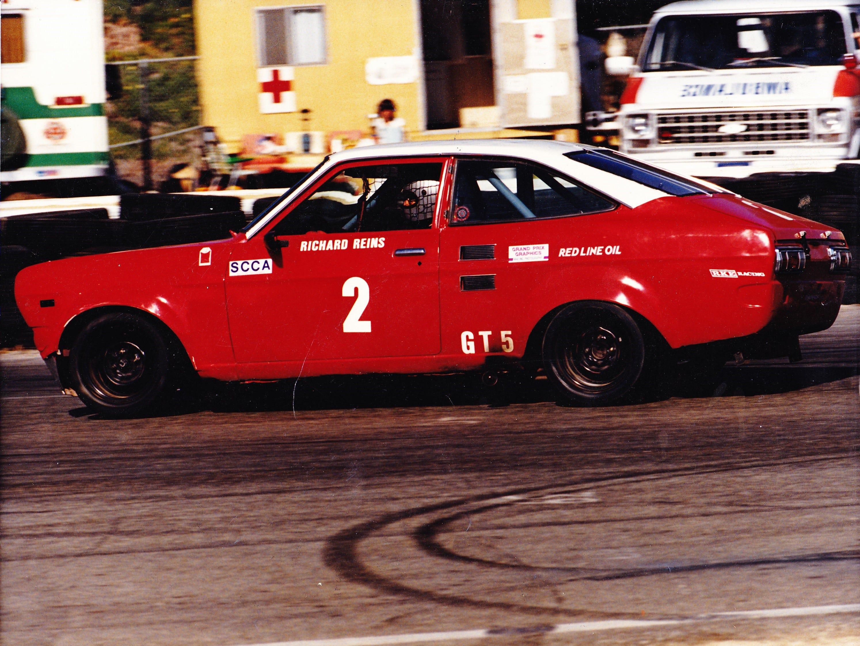 Richard Reins in his racecar.