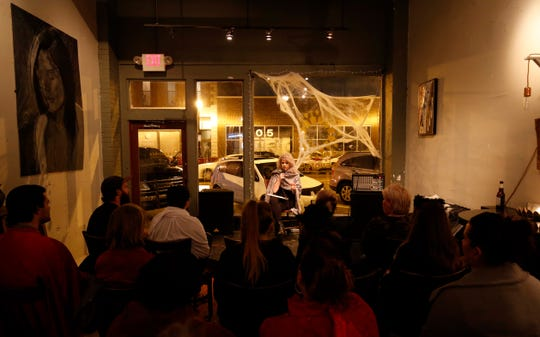 It was standing room only during Lexi Coonrod's performance at the Chatty Cathy women's comedy showcase at Q Enoteca in Springfield on Oct. 13, 2018.