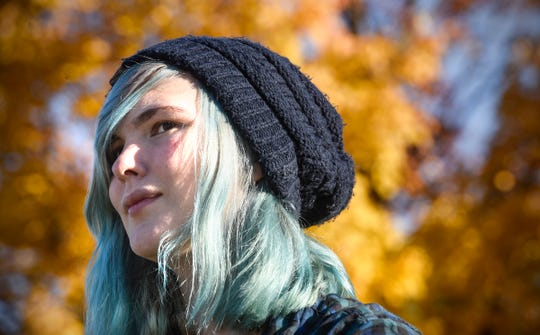 Kira Rose Smith-Ahles is pictured Thursday, Oct. 18, in St. Cloud. Smith-Ahles is the co-founder of a new group for LGBTQ+  people ages 21 and younger.