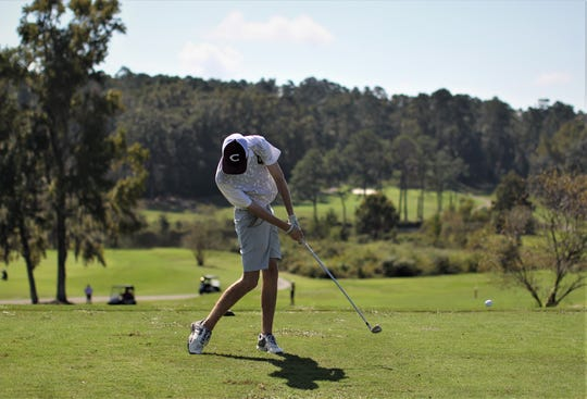 Chiles sophomore Jake Springer hits a tee shot during the District 1-3A boys golf tournament at Hilaman Golf Course.