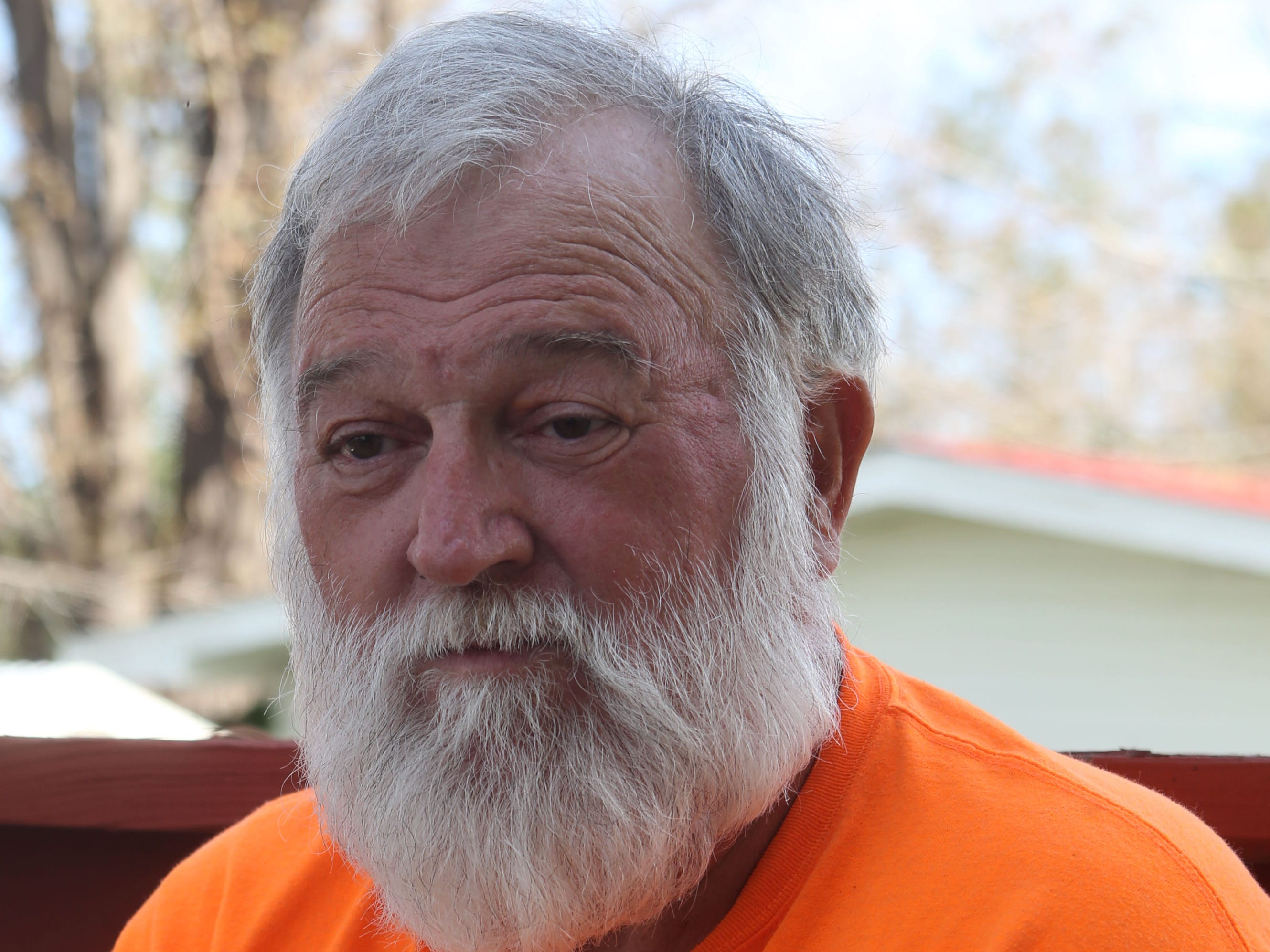 Eugene Radney, grandfather of Sarah Radney, an 11 year old girl who died during Hurricane Michael in Donalsonville, Ga., speaks about what took place during the hurricane on Thursday, Oct. 18, 2018.