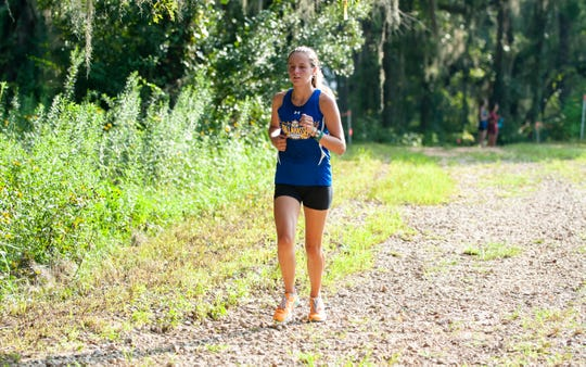 Tallahassee Community College cross country runner Genevieve Printiss is a freshman Carrabelle. Her hometown was hit hard by Hurricane Michael.