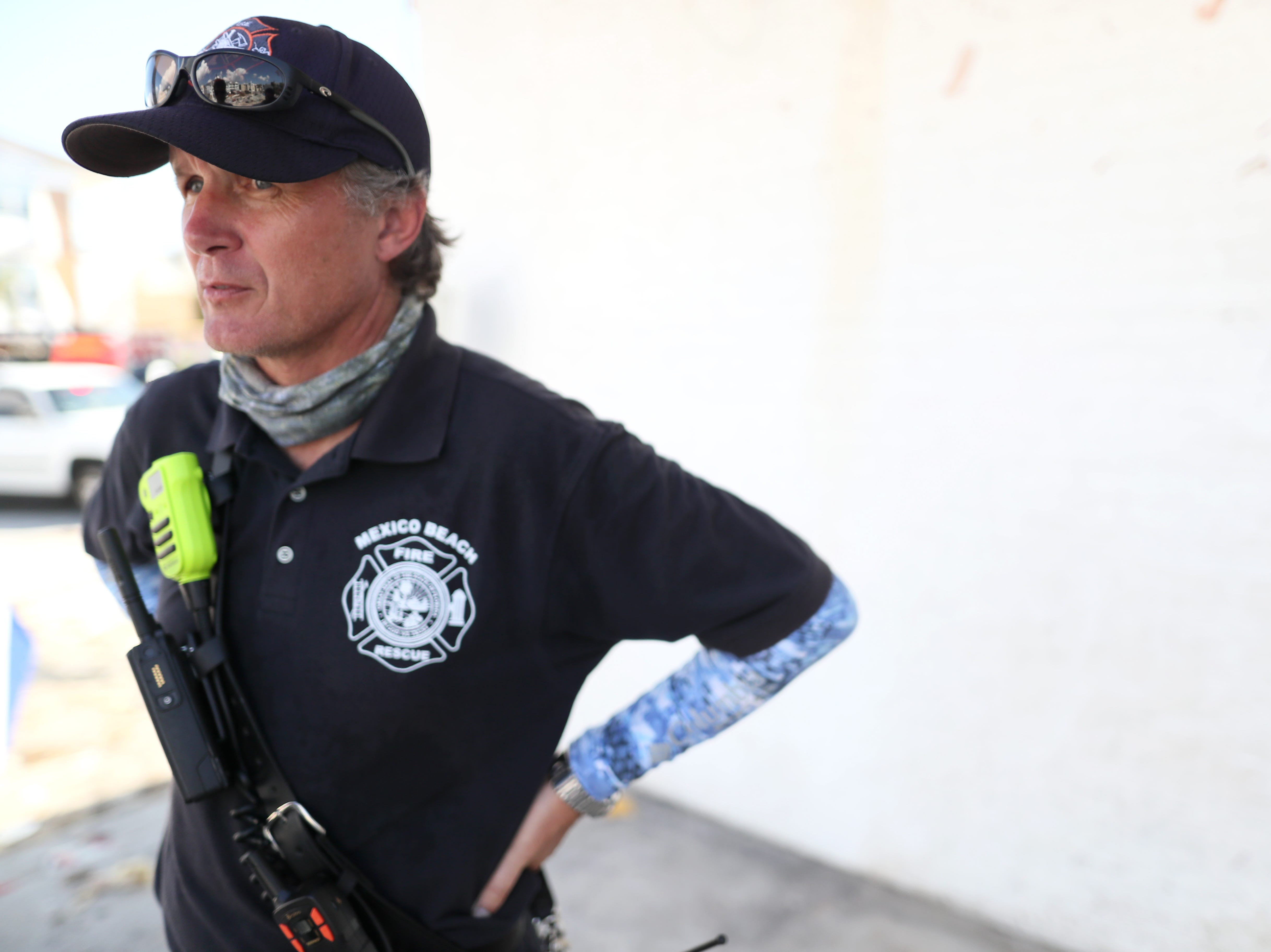 """Donald """"Sandy"""" Walker, Mexico Beach's interim fire chief says there are four confirmed deaths in his city, with what he sees as the potential for more based on the sheer devastation of property on Wednesday, Oct. 17, 2018, one week after Hurricane Michael ripped through the coastal Florida town."""