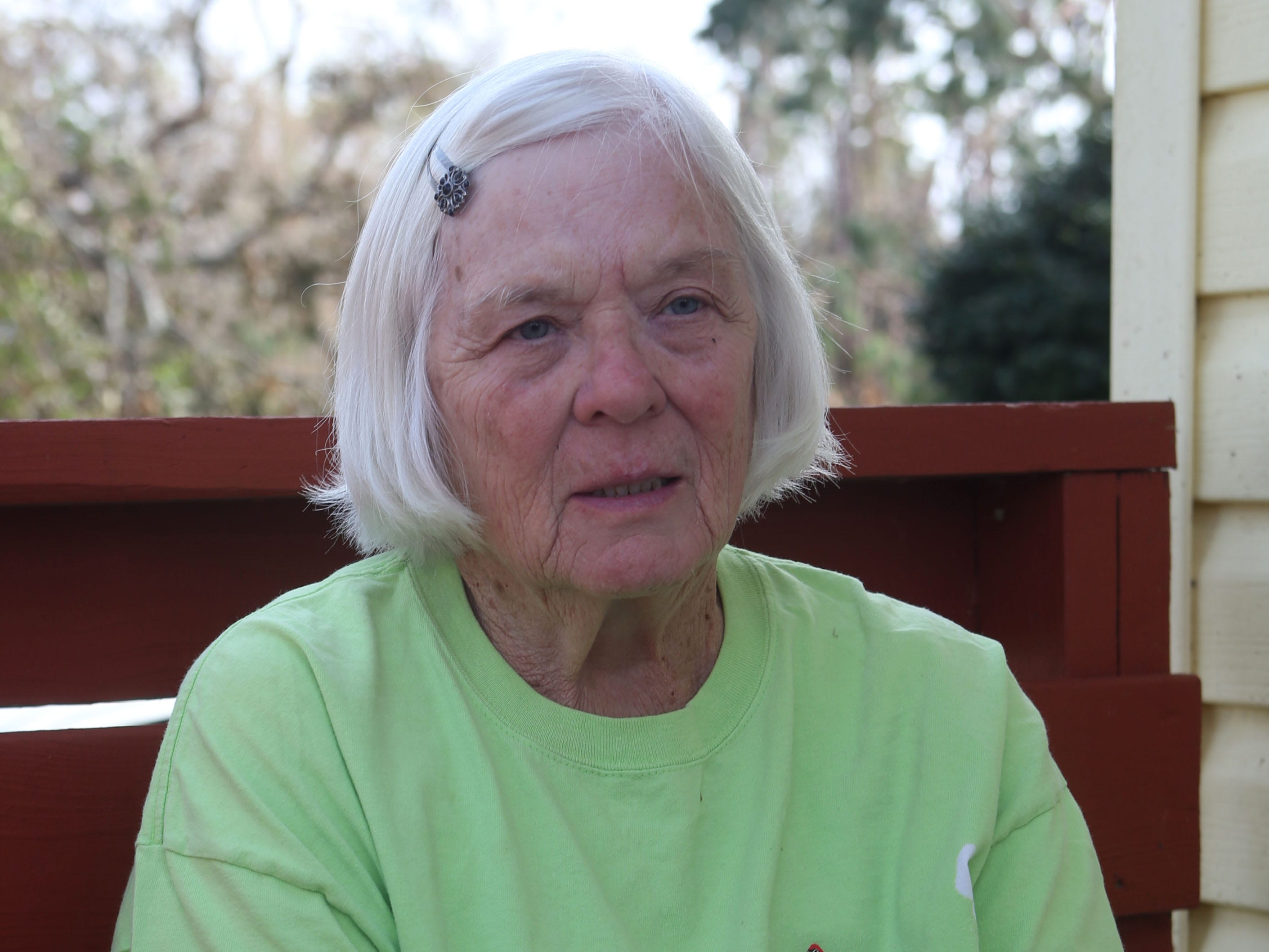 Elizabeth Radney, grandmother of Sarah Radney, an 11 year old girl who died during Hurricane Michael in Donalsonville, Ga., speaks about what took place during the hurricane on Thursday, Oct. 18, 2018.