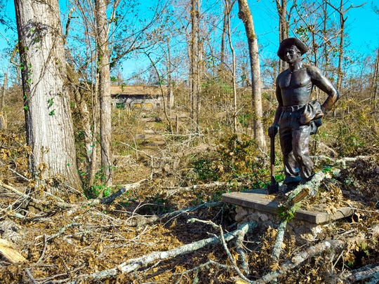 Michael managed to shoot branches under the Civilian Conservation Corps statute at Florida Caverns State Park