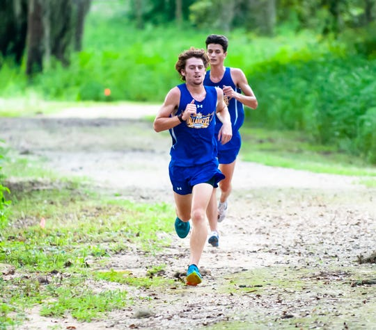 Tallahassee Community College cross country runner Simon Hodgson is a freshman from Eastpoint. He is one of four Eagles whose hometown was hit hard by Hurricane Michael.