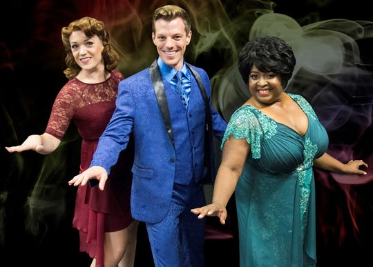 "Summerisa Bell Stevens, Schyler Conaway and Jayne Trinette star in Riverside Theatre's ""Smokey Joe's Cafe."""