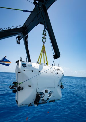The Triton 36000/2 Hadal Exploration System manned submersible, built by Triton Submarines of Indian River County will embark next year on an expedition to investigate the deepest places in each of the world's five oceans.