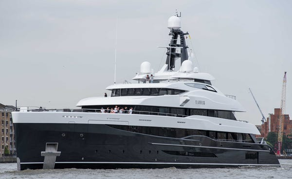 Elandess, a 242 foot superyacht, is among the fleet of yachts expected at this year's Fort Lauderdale International Boat Show Oct. 31-Nov. 4.