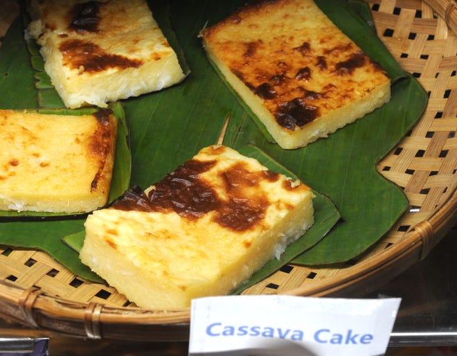 Cassava cake is offered at Mestiza Kitchen.