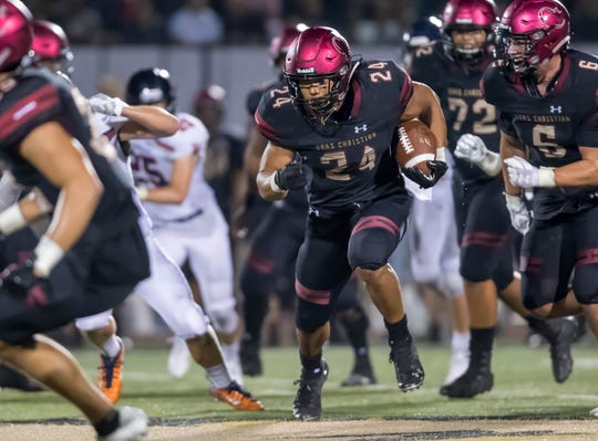 Zach Charbonnet and Oaks Christian put their unbeaten record on the line when they face Calabasas in a huge Marmonte League game Friday night.