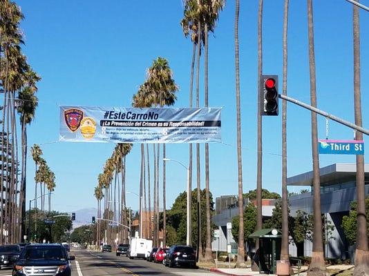 Oxnard Auto Theft Banner