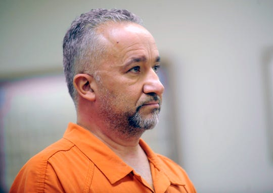 Bridgeton teacher Isaias Garza as he appeared for a detention hearing in Cumberland County Superior Court Judge Michael Silvanio on October 17, 2018.