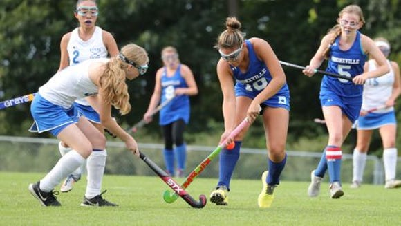 Bronxville (in blue) in action earlier this season against North Salem