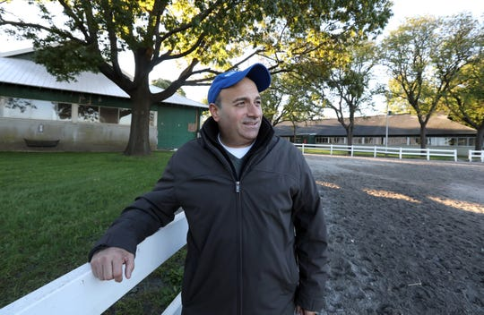 Ara Aprahamian of Bardonia at Belmont Park in Queens Oct. 18, 2018. He owns several racehorses, including Uncle Benny, winner of the 2018 Belmont Futurity.