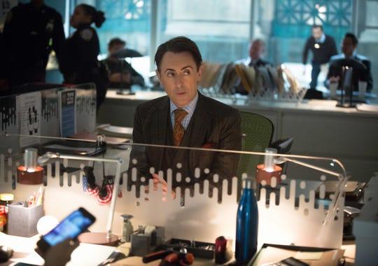 "Alan Cumming as Dr. Dylan Reinhart in a scene from the CBS series ""Instinct."""