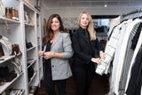 Dawn Pasacreta and Denise Elias talk about their business, Lola New York, a women's clothing and accessories boutique in White Plains, Oct. 18, 2018.
