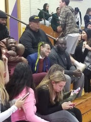 Rapper Tekashi 6ix9ine appeared at a Clarkstown North High School volleyball game Tuesday.