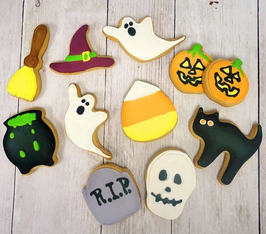 Halloween cookies made by the Hotel du Pont's pastry staff will be available in the Wilmington hotel's gift shop from Oct. 26 to Oct. 31. Each cookie is $3.50.