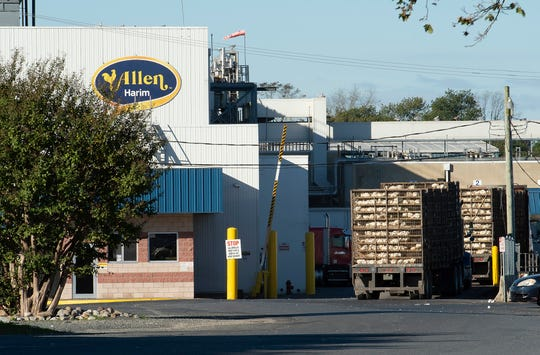 A worker died Oct. 5 following an industrial accident at Allen Harim's poultry processing plant in Harbeson.