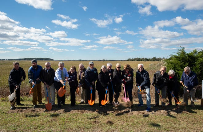 A groundbreaking is held for the Slaughter Beach Marvel Saltmarsh Preserve Boardwalk. The construction of this viewing overlook and boardwalk will give pedestrians access into the saltmarsh for scenic and educational purposes.