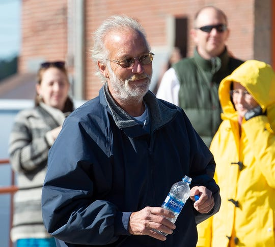 Bill McSpadden, who got work going on the Marvel Saltmarsh Preserve Boardwalk near Slaughter Beach, attends the groundbreaking for it.