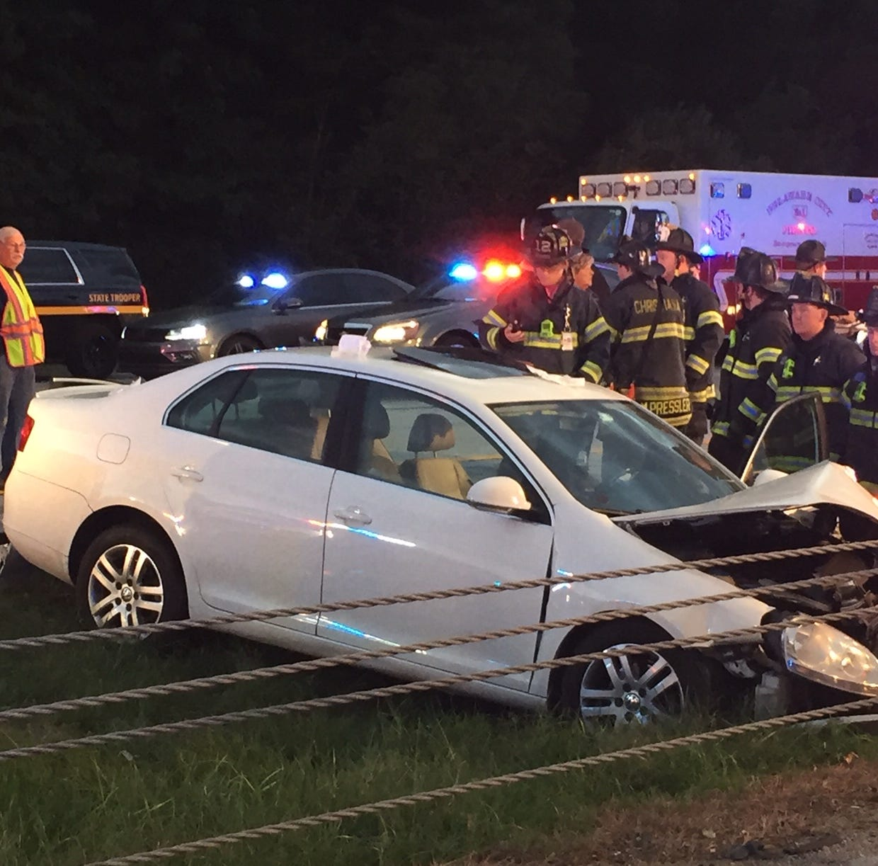 Del. 1 north closed after crash