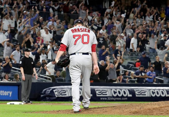 Boston Red Sox relief pitcher Ryan Brasier from Wichita Falls has emerged as one of the trustworthy relievers for manager Alex Cora in the postseason.