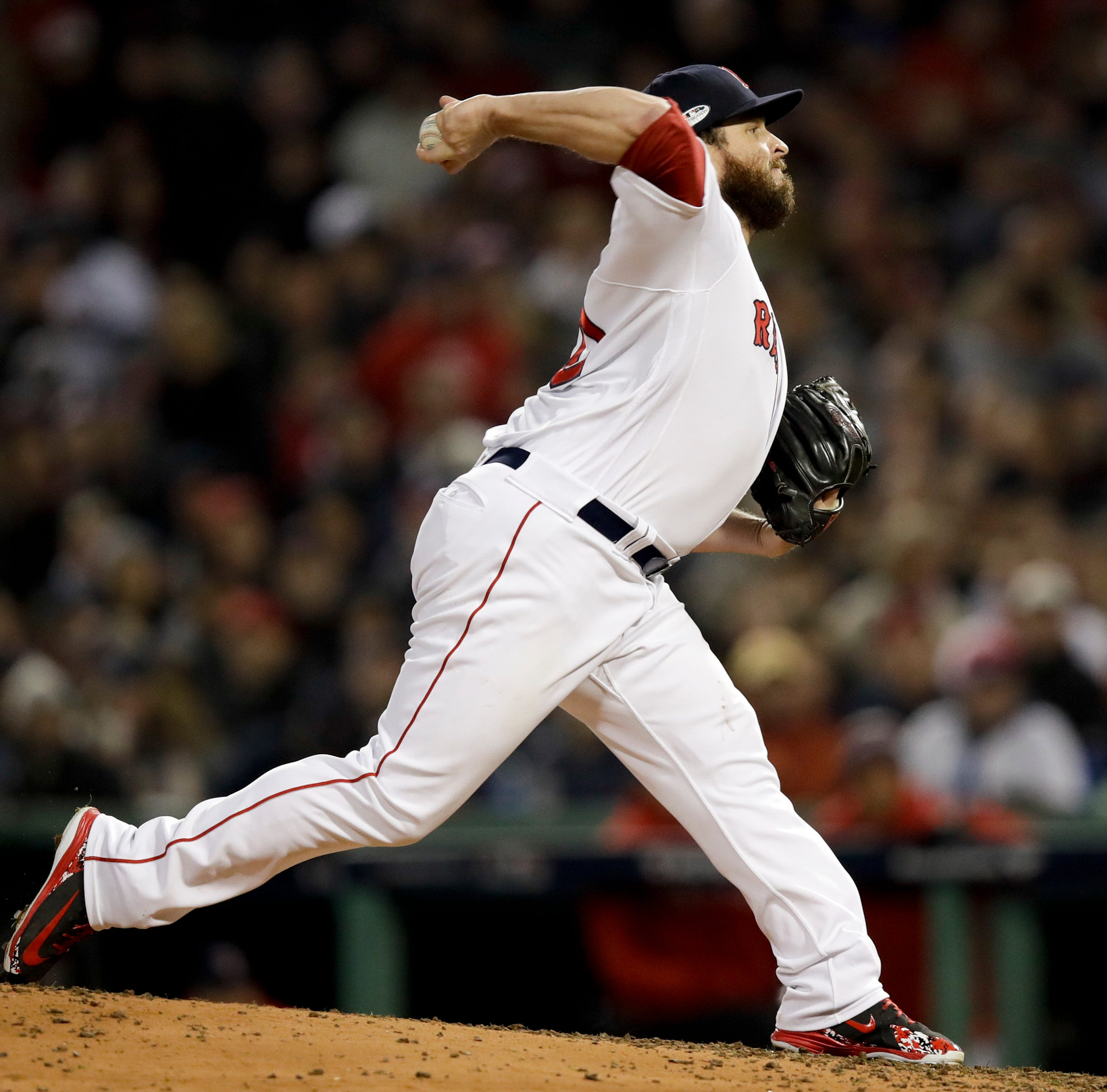 Newberry: Ryan Brasier out from behind the plate and throwing in 2018 World Series
