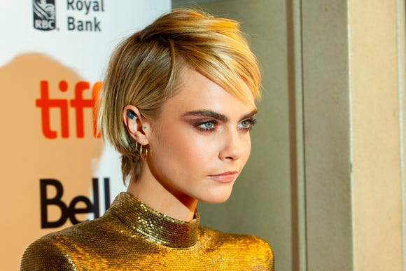 Cara Delevingne attends the premiere of 'Her Smell' at the Toronto International Film Festival in Toronto, Ontario, Sept. 9, 2018.