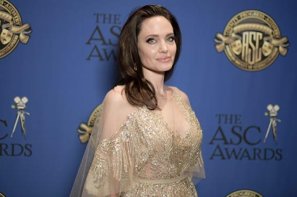 Brunette Angelina Jolie