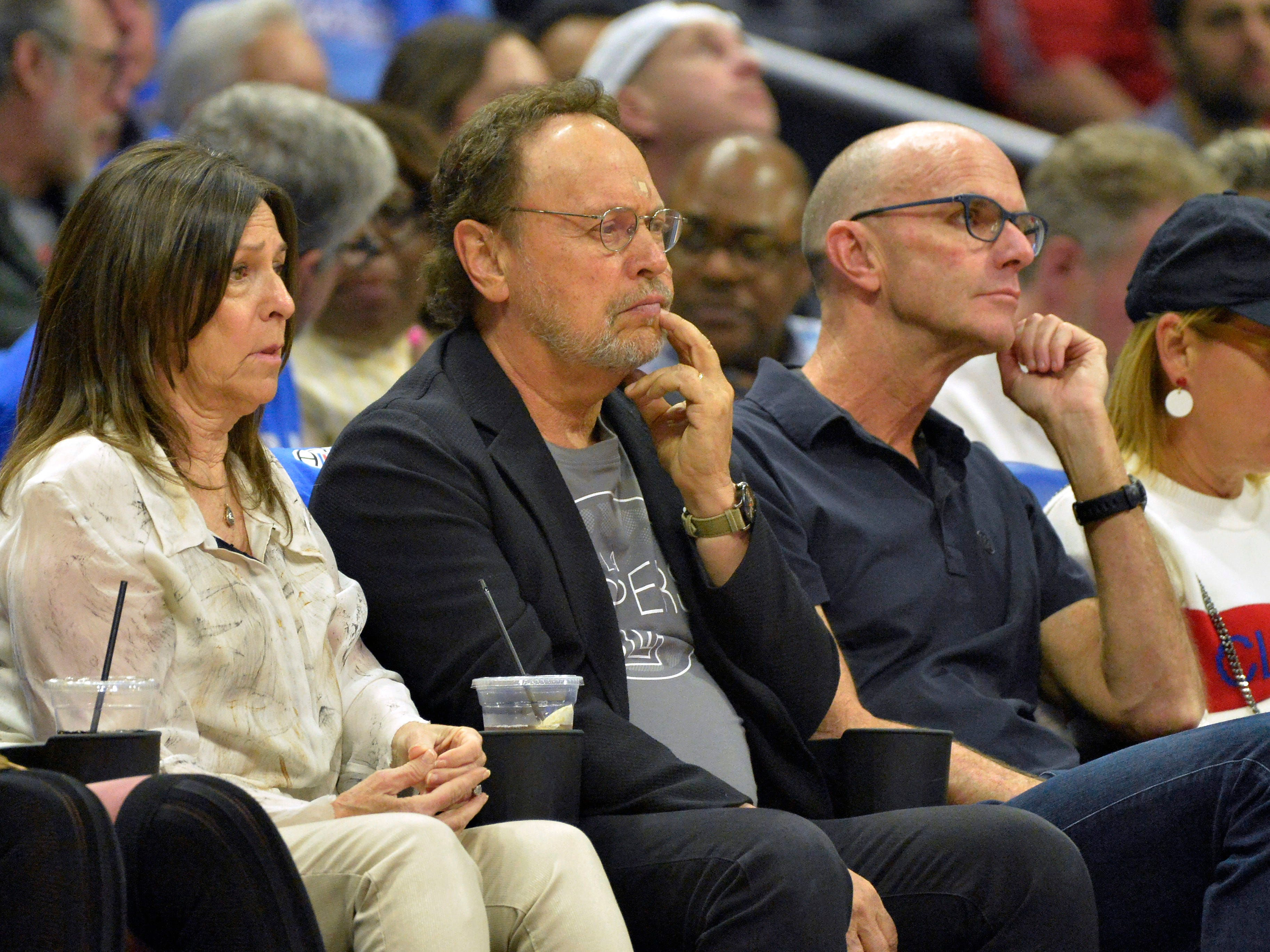 Oct. 17: Billy Crystal watches during the first quarter between the Denver Nuggets and LA Clippers at Staples Center.