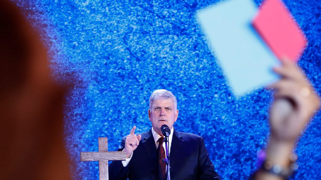 Evangelical preacher Franklin Graham in Hanoi, Vietnam, on Dec. 8, 2017.