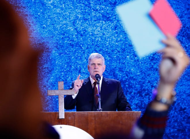 Evangelical preacher Franklin Graham in Hanoi, Vietnam, on Dec. 8, 2017.